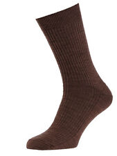 Mens WAFFLE LOOSE Cotton Rich Wide Top Socks No Non Elastic 3 Pack