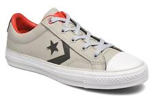 Women's Converse Star Player Cuir Ev W Lace-up Trainers in Grey