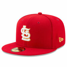 St. Louis Cardinals New Era MLB Gold City Fitted 59Fifty Headwear - Red