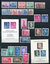 Germany 1955 Mi 447-509 MNH/MH Complete Year (-9 stamps)+3 Blocks Mi 11-3