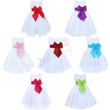 Communion Lace Tulle Tutu Flower Girl kid Wedding Birthday Party Princess Dress