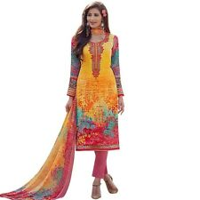 Readymade Cotton Printed Sober Embroidery Salwar Kameez Suit India-Sadhna-2-9003