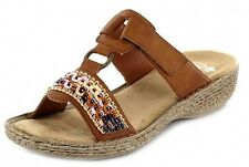 RIEKER ladies Summer Mules brown sporty soft comfortable Velcro NEW 37 bis 42