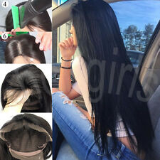 10-22 inch Brazilian Silky Straight 100% Human Hair Full Lace Wig Front Lace Wig