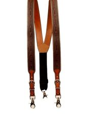 Nocona Western Suspenders Mens Tooled Adjustable Galluses Tan N8513008