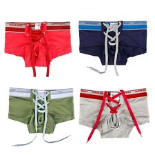 New Men Cotton Underwear Boxer Briefs Shorts Bulge Pouch Underpants Bikini M-XL