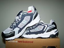 Men's NEW Size 8 New Balance Grey Running Shoes with Navy Blue and White  Trim