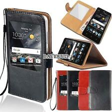 window view Flip Leather Wallet Stand Cover Case For Various ZTE Blade Phones