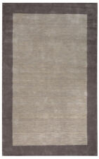 Rizzy Rugs Beige Solid Monochrome Boxed Contemporary Area Rug Bordered PL2847