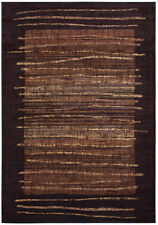 Rizzy Rugs Black Bordered Lines Stripes Contemporary Area Rug Abstract BV3194