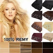 "Long Short 10"" 13"" 18"" 20"" 22"" Clip In Remy Human Hair Extensions Full Head MX30"