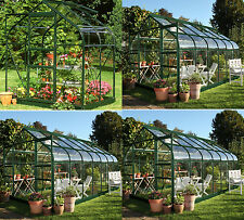 Halls Supreme Glass Greenhouse with Base - Choice of Glass Types and Sizes:Argos