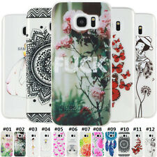 Various Cute Slim Soft TPU Silicone Clear Skin Back Case Cover For Samsung Phone