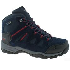 MENS HI-TEC BANDERA II WP NAVY RED WATERPROOF HIKING WALKING BOOTS