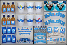** SMURFS PERSONALISED Birthday Party Decorations Supplies Scene Setter **