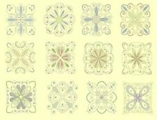 Candlewick & Satin 3 Quilt Squares Machine Embroidery Designs-48 Anemone Designs