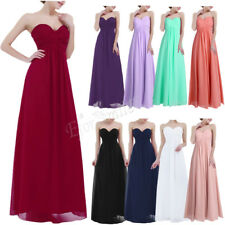 Womens Long Cocktail Evening Party Prom Formal Wedding Bridesmaid Gown Dress4-16
