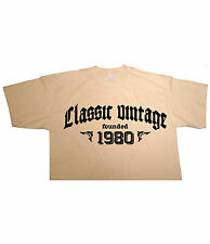 CLASSIC VINTAGE FOUNDED 1980 - Birthday T-shirt gift funny present born in fun