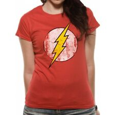 The Flash - Logo Fitted T-shirt Red Small Brand New