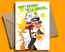 Harley Quinn Margot Robbie Suicide Squad Personalised Birthday Card