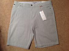 MARKS AND SPENCER PER UNA SHORTS NAVY WHITE STRIPE SIZE 22 BRAND NEW