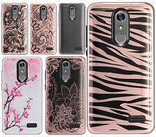 For Cricket ZTE Grand X4 Hard IMPACT HYBRID Protector Case Skin Phone Cover