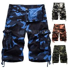 New Mens Fashion Cargo Camo Work Army Military Camouflage Trousers Pants Shorts