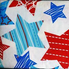 PATRIOTIC TABLECLOTH~Vinyl~Flannel back~ALL SIZES~BBQ July 4th Stars~NEW