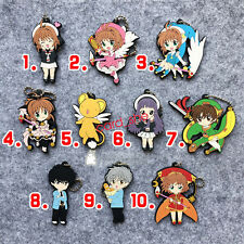 New style Japan anime CARD CAPTOR SAKURA Rubber Keychain Key Ring Rare