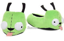 Invader Zim Gir Alien Dog Plush Slippers House Shoes Green Ladies XL 11/12 NWT