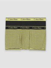 calvin klein mens mantle striped cotton stretch 2-pack low rise trunk underwear