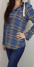 Womens Superdry Hooded Lumberjack Style Check Flannel Shirt Large