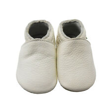 Sayoyo Baby Soft Sole Genuine Leather Toddler Infant Shoes Crib Moccasins White