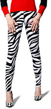 IN STOCK ZEBRA ANIMAL PRINT SPANDEX SPANDEX NYLON LEGGINGS - Made in USA.
