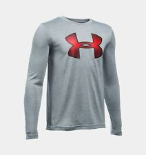 UNDER ARMOUR Boy's UA Novelty Big LOGO L/S T-Shirt ** STEAL - Small ** NWT
