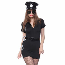 Sexy Ladies Police Officer Cop Policewoman Role Play Cosplay Costume Fancy Dress