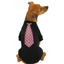 Choose Size - East Side Collection - Full Of Heart Tie - Dog Puppy Tee Shirt