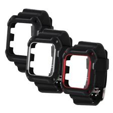 Rubber Plastic Replacement Strap Band Case Protector for Apple Watch iWatch