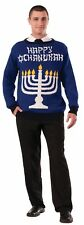 Ugly Christmas Sweater Light Up Happy Chanukah Hanukkah Jewish Holiday Adult