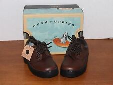 Hush Puppies Buccaneer Dark Brown Leather Dress Shoes Toddler