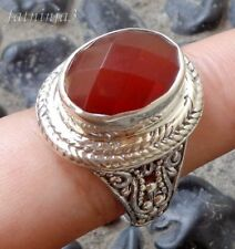 Carnelian Solid Silver, 925 Bali Handcrafted Ring 33244