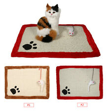 Pet Cat Kitten Scratcher Scratching Post Claws Mat Pad Hanging Interactive Toy D