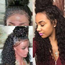 Deep Curly Wave Straight Human Hair Lace Front Wigs Full Lace Wig 360 Baby Hair