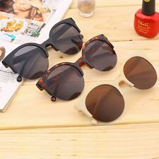 Retro Black Lens Vintage Men Women Round Frame Sunglasses Glasses Eyewear New BH