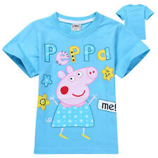 2017 Kids Boys Clothing Peppa Pig Short Sleeve Summer T-Shirt Casual Cotton Top