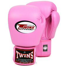 Twins Special Pink Muay Thai Velcro Boxing Gloves - BGVL-3