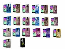 Screen Protector+Chrome Motion Glitter PC-TPU Case Cover For LG K20 Plus  Phone
