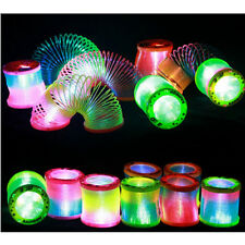 Noctilucent Plastic Rainbow Spring Slinky Toy Magic Stretchy Bouncing Toys TB