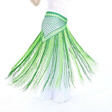 Belly Dance Costume Tribal Tassel hip scarf wrap belt Skirt Fringes 13 colors UI