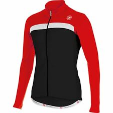 Castelli Criterium Road Cycling Jersey Full Zip - Black/Red/White